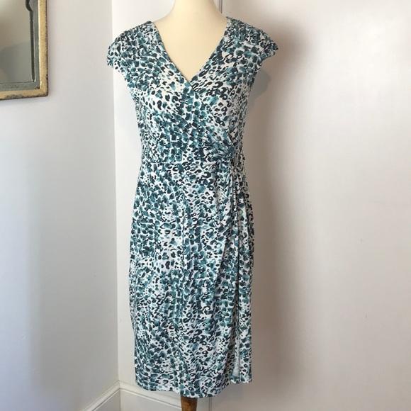 Apt. 9 Dresses & Skirts - Apt. 9 Faux Wrap Leopard Print Dress M